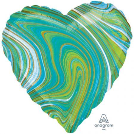 מיילר 18 לב מרבל כחול ירוק