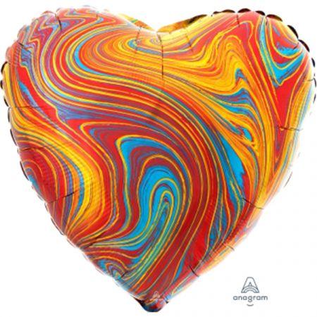 מיילר 18 - שיש צבעוני בצורת לב