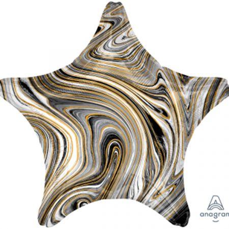 בלון מיילר 18 - שיש שחור בצורת כוכב