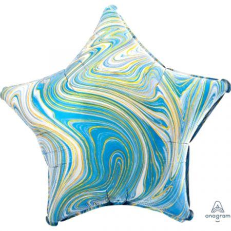 בלון מיילר 18 - שיש כחול בצורת כוכב