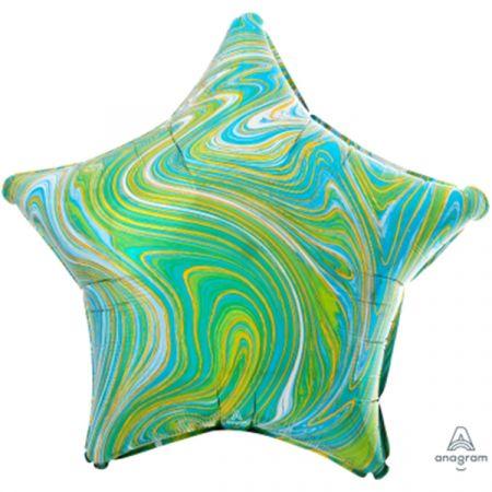 מיילר 18 כוכב מרבל כחול ירוק