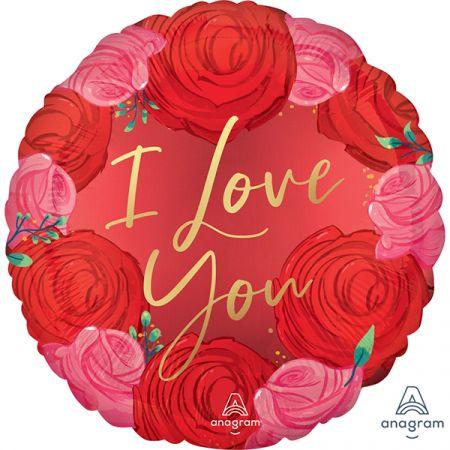 בלון מיילר 18 סאטן אהבה ורדים אדומים