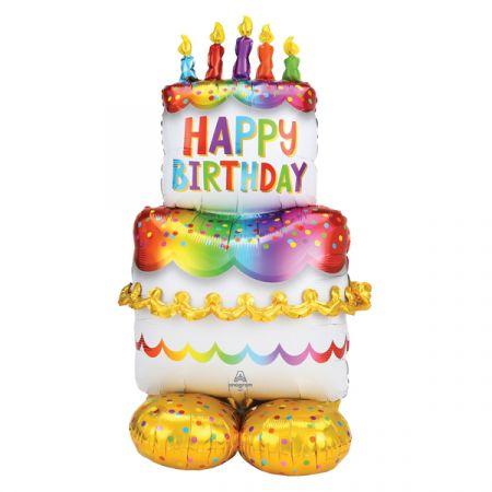 בלון איירלונז ניפוח באוויר 53 HB בצורת עוגת יום הולדת