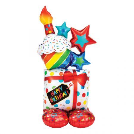 בלון איירלונז ניפוח באוויר 53 HB בצורת פריטי יום הולדת ארוזים