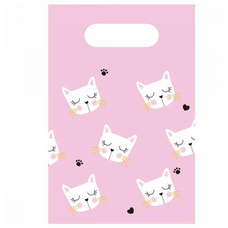 שקית נייר בסיס 6 יח- חתול