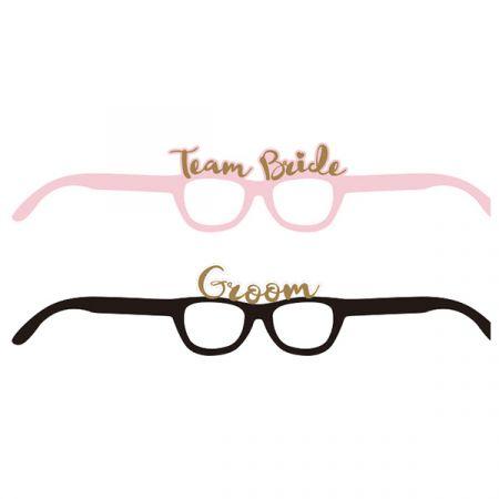 משקפיים מנייר רווקות- מיקס ורוד שחור- 4 יח