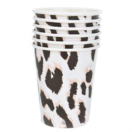 כוסות נייר 6 יח - ספארי נמר