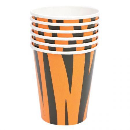 כוסות נייר 6 יח - ספארי טיגריס