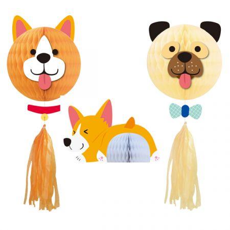 ערכה לקישוט - מסיבת כלבים 3 יח