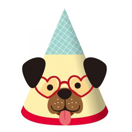 כובעי מסיבה 6 יח- מסיבת כלבים