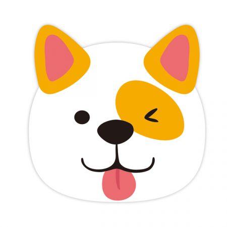מפיות נייר דו שכבתי עם הטבעה בצורת כלב- מסיבת כלבים