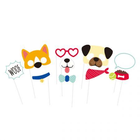 סט מקלות סלפי- מסיבת כלבים 10 יח