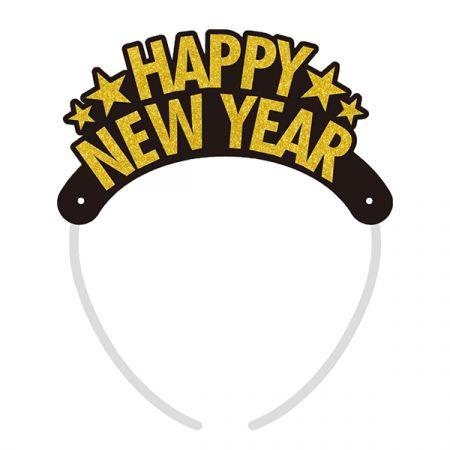 כתר HNY שנה חדשה 4 יח - זהב