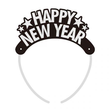 כתר HNY שנה חדשה 4 יח - כסף