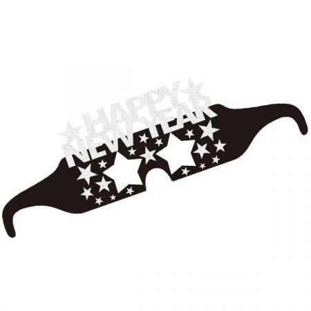 משקפיים נייר HNY שנה חדשה כסף 6 יח