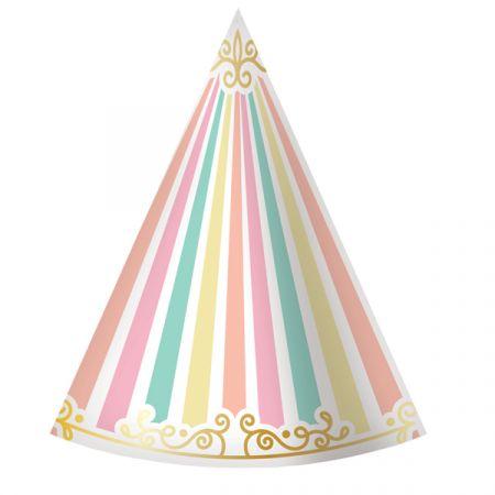 כובעי מסיבה מנייר - חד קרן קרקס 6 יח