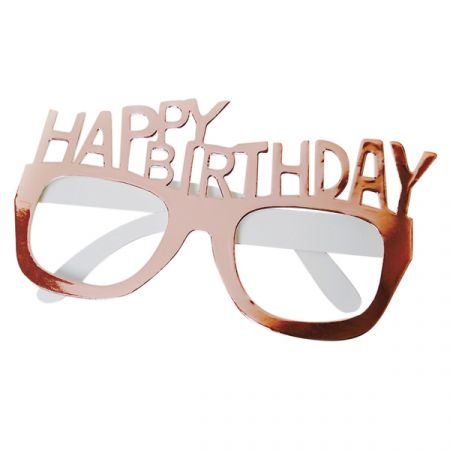 משקפיים מנייר HB - 4 יח רוז גולד