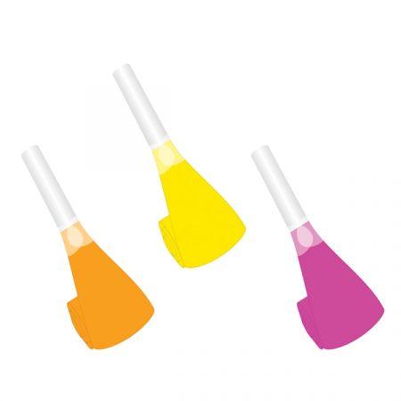 מנשפים מנייר צבעי ניאון- 6 יח