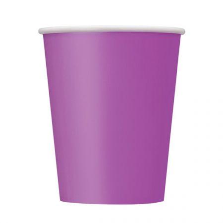 כוסות נייר - סגול 8 יח